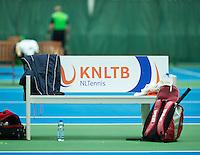 Hilversum, The Netherlands, March 10, 2016,  Tulip Tennis Center, NOVK, bench<br /> Photo: Tennisimages/Henk Koster
