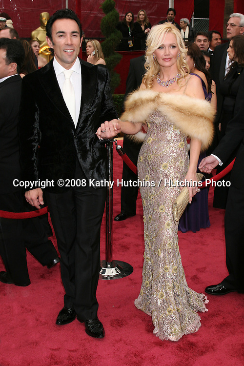 Francesco Quinn & Wife.80th Academy Awards ( Oscars).Kodak Theater.Los Angeles, CA.February 24, 2008.©2008 Kathy Hutchins / Hutchins Photo....