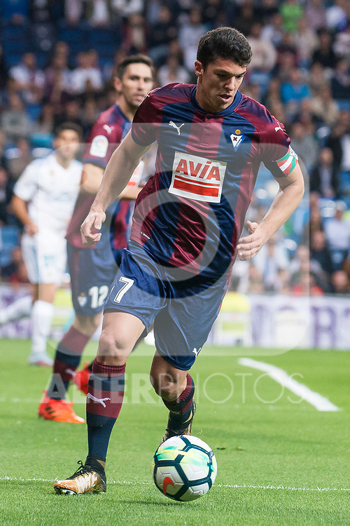 Eibar Ander Capa during La Liga match between Real Madrid and Eibar at Santiago Bernabeu Stadium in Madrid, Spain. October 22, 2017. (ALTERPHOTOS/Borja B.Hojas)