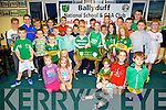 Ballyduff NS and GAA club launch their Night at the Dog fundraiser at the Kingdom Greyhound Stadium in November at the Ballyduff Gaa club on Monday. Pictured the Children of Ballyduff NS and GAA club