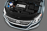 High angle engine detail of a 2010 Volkswagen CC Sport R-Line  .