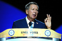 Cincinnati, OH - July 17, 2016: Ohio Governor John Kasich speaks before an audience at the NAACP convention in Cincinnati, Ohio, July 17, 2016.  (Photo by Don Baxter/Media Images International)