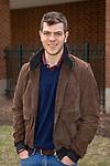 Tristan Bore, 2018 recipient of the Critical Language Scholarship, Monday, April 23, 2018, in the Lincoln Park Campus Quad. (DePaul University/Jeff Carrion)