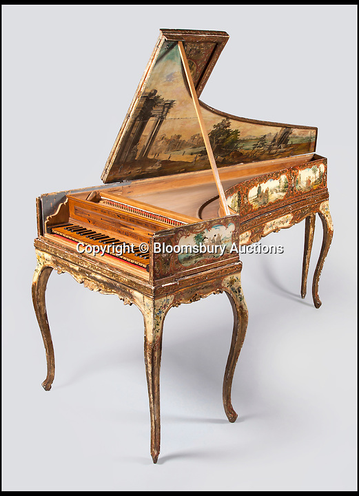 BNPS.co.uk (01202 558833)<br /> Pic: BloomsburyAuctions/BNPS<br /> <br /> A single-manual harpsichord by Aelpidio Gregori estimate &pound;35,000.<br /> <br /> No strings attached - Worlds finest collection of historic piano&rsquo;s up for sale&hellip;<br /> <br /> An incredible collection of historic pianos and musical instruments that have been on display in a grand country home for four decades are expected to fetch more than half a million pounds at auction.<br /> <br /> The array of antique pianos, clavichords, harpsichords and other instruments, which span 350 years of music history, were accumulated by concert pianist Richard Burnett and stored at Finchcocks, his baroque house in idyllic Kent countryside near Tunbridge Wells.<br /> <br /> More than 70 keyboard instruments, including some of the best playing instruments in the world, are up for sale, with some expected to fetch up to &pound;70,000.<br /> <br /> The sale by Dreweatts Auctions in Newbury, Berkshire, is on May 11.