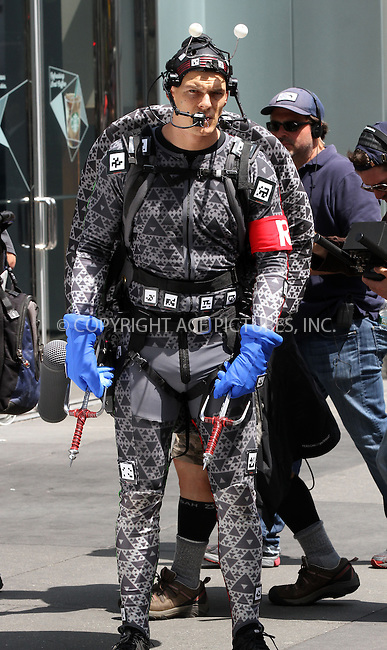 WWW.ACEPIXS.COM....May 20 2013, New York City....Actor Alan Ritchson on the set of the new movie 'Teenage Mutant Ninja Turtles' on May 20 2013 in New York City......By Line: Zelig Shaul/ACE Pictures......ACE Pictures, Inc...tel: 646 769 0430..Email: info@acepixs.com..www.acepixs.com