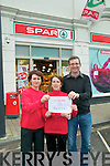 Lotto Winner: Spar Supermarket in Listowel sold a winning ticket in the Lotto Plus 2  on Saturday night last and the winning ticket for EUR250,000 was collected in Dublin yesterday evening. Do you know who won it asks Kathleen Guiney, Audrey Heaphy & Ger Greaney of Spar Supermarket in Listowel.