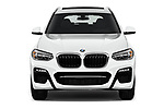 Car photography straight front view of a 2019 BMW X3 M Sport 5 Door SUV