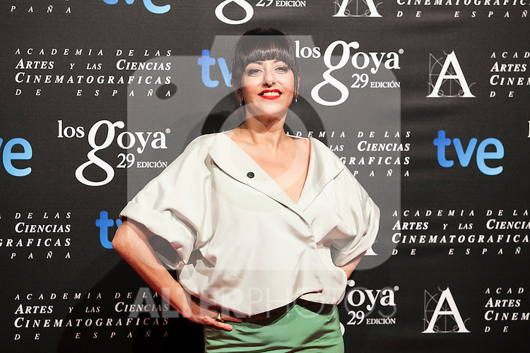 Yolanda Ramos poses before the 2015 Goya Awards nominee ceremony in Madrid, Spain. January 19, 2015. (ALTERPHOTOS/Victor Blanco)
