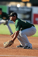 South Bend Silver Hawks first baseman Ramon Castillo (15) during a game vs. the West Michigan Whitecaps at Fifth Third Field in Comstock Park, Michigan August 16, 2010.   West Michigan defeated South Bend 3-2.  Photo By Mike Janes/Four Seam Images