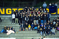 Fans watch the 2019 Wellington Secondary Schools Premier 1 Boys Grade hockey final between Wairarapa College and Wellington College at National Hockey Stadium in Wellington, New Zealand on Friday, 23 August 2019. Photo: Dave Lintott / lintottphoto.co.nz