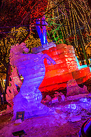 Ice sculpture at the 2017 Saint Paul Winter Carnival in Rice Park.