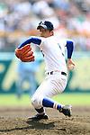 Yuto Mizota (Riseisha),<br /> APRIL 2, 2014 - Baseball :<br /> 86th National High School Baseball Invitational Tournament final game between Ryukoku-Dai Heian 6-2 Riseisha at Koshien Stadium in Hyogo, Japan. (Photo by Katsuro Okazawa/AFLO)