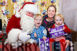 Meeting Santa in the Cahersiveen Community Centre on the December 8th were l-r; Reece, Orla & Maisie Grace Donovan.