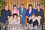 Enjoying the Gneeveguilla GAA club 50th anniversary banquet in the Malton Hotel Killarney on Saturday night front row l-r: Noreen Goulding, Gobnait Carmody. Back row: Mossie Brosnan, Mary Looney, Vincent Carmody, Kathleen Crowley and Sean Goulding ..