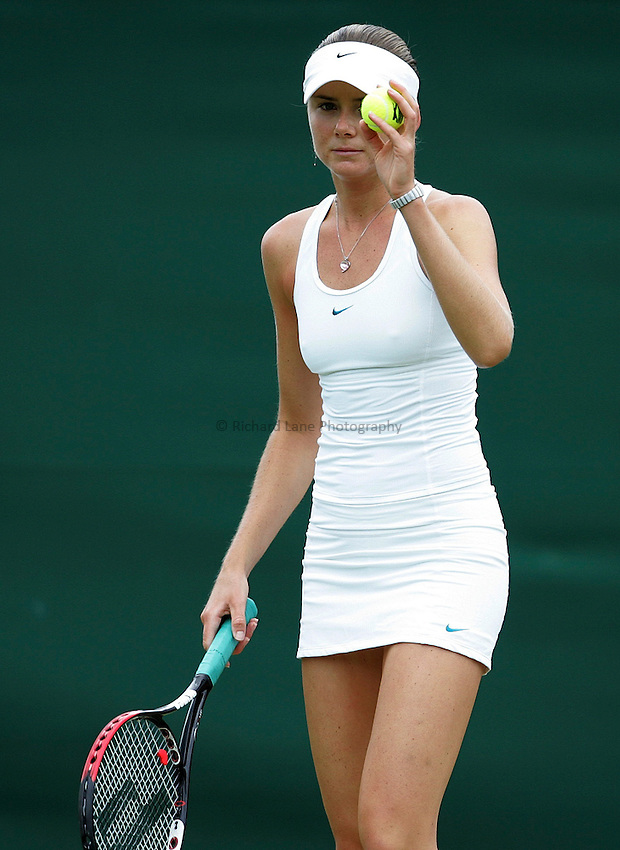 Photo: Paul Thomas..Wimbledon Championships. 28/06/2007...Daniela Hantuchova (SVK) during her match against Elena Likhovtseva.