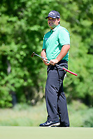 Patrick Reed (USA) watches his putt on 2 during round 1 of the Shell Houston Open, Golf Club of Houston, Houston, Texas, USA. 3/30/2017.<br /> Picture: Golffile | Ken Murray<br /> <br /> <br /> All photo usage must carry mandatory copyright credit (&copy; Golffile | Ken Murray)