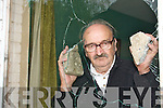 DAMAGE: Maurice Coffey (71) pictured at his damaged home in Shanakill, Tralee on Monday last.   Copyright Kerry's Eye 2008