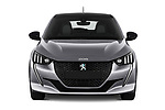 Car photography straight front view of a 2020 Peugeot e-208 GT 5 Door Hatchback Front View