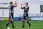 S&ouml;dert&auml;lje 2013-10-06 Fotboll Allsvenskan Syrianska FC - IF Elfsborg :  <br /> Elfsborg 9 Lasse Nilsson gratulerar Elfsborg 16 Viktor Claesson efter 2-1 till IF Elfsborg<br /> (Foto: Kenta J&ouml;nsson) Nyckelord:  jubel gl&auml;dje lycka glad happy