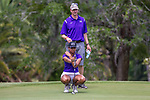 HOWEY IN THE HILLS, FL - MAY 11: Navika Kuchakulla of New York University receives guidance from coach Brad Johnson while putting at the Division III Women's Golf Championship. Kuchakulla would go on to finish second place overall in Individual play with a score of +14 over par. The Claremont Mudd Scripps won both the team and individual (Margaret Loncki) First Place Championships during the Division III Women's Golf Championship held at the Mission Inn Resort & Club on May 11, 2018 in Howey-In-The-Hills, Florida. (Photo by Matt Marriott/NCAA Photos via Getty Images)