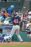 Salem Red Sox infielder Jordan Betts (41) at bat during a game against the Myrtle Beach Pelicans at Ticketreturn.com Field at Pelicans Ballpark on May 5, 2015 in Myrtle Beach, South Carolina.  Myrtle Beach defeated Salem  5-2. (Robert Gurganus/Four Seam Images)