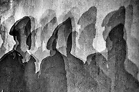 Shadows of Bangladesh Rapid Action Battalion personnel.