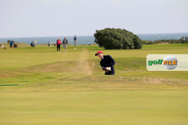 Ted Collins (Dun Laoghaire) on the 14th during Round 1 of the Irish Youths Amateur Close Championship in Ardglass Golf Club on Wednesday 27th August 2014.<br /> Picture:  Thos Caffrey / www.golffile.ie