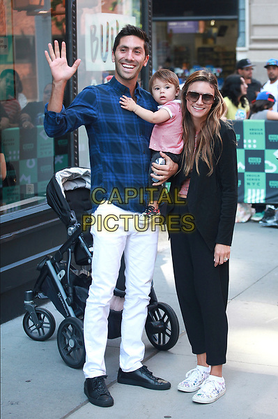 NEW YORK, NY - AUGUST 31:  Nev Schulman and Laura Perlongo at AOL BUILD  on August 31, 2017 in New York City. <br /> CAP/MPI/DIE<br /> &copy;DIE/MPI/Capital Pictures