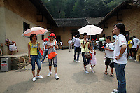 Visitors outside of  Mao's birthplace in Shaoshan, Hunan Province, China on 12 August 2009.
