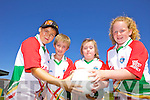 Eoin Kennedy, Jack Shannon, Méabh Rohan and Deirdre O'Halloran having fun at the Castlegregory Cúl Camps last week.