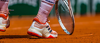 Paris, France, 31 May, 2017, Tennis, French Open, Roland Garros, tennis shoes and racket<br /> Photo: Henk Koster/tennisimages.com