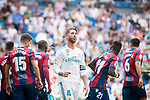 Real Madrid's Sergio Ramos during La Liga match between Real Madrid and Levante UD at Santiago Bernabeu Stadium in Madrid, Spain September 09, 2017. (ALTERPHOTOS/Borja B.Hojas)