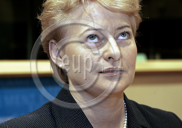 BRUSSELS - BELGIUM - 28 SEPTEMBER 2004 -- The EU-Parliament Hearing of EU-Commissioner Designate Dalia GRYBAUSKAITE (Lithuanian) responsible for Financial Programming and Budget.-- PHOTO: JUHA ROININEN / EUP-IMAGES