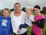John James and John McGahon, Kate and Julieanne Stafford pictured t Moneymore sports day. Photo: www.pressphotos.ie