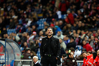 Diego Pablo Simeone coach of Atletico de Madrid during La Liga match between Atletico de Madrid and Villarreal at Vicente Calderon stadium in Madrid, Spain. December 14, 2014. (ALTERPHOTOS/Caro Marin) /NortePhoto