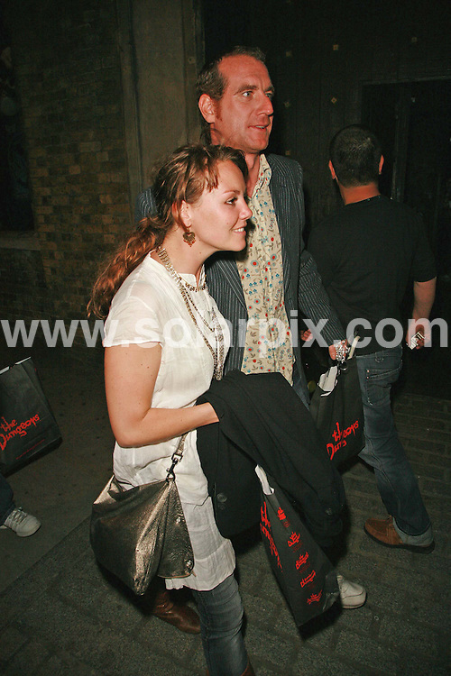 **ALL ROUND PICTURES FROM SOLARPIX.COM**.London Dungeon hosts a celebrity launch party 01/04/07, for the arrival of new ride Extremis: Drop Ride to Doom. The new ride opens to the public on Monday 2nd April - first day of Easter holidays..This pic:Charlie Brooks leaves with guest.JOB REF:3644-GMT   DATE:01_04_07 .**MUST CREDIT SOLARPIX.COM OR DOUBLE FEE WILL BE CHARGED* *UNDER NO CIRCUMSTANCES IS THIS IMAGE TO BE REPRODUCED FOR ANY ONLINE EDITION WITHOUT PRIOR PERMISSION*