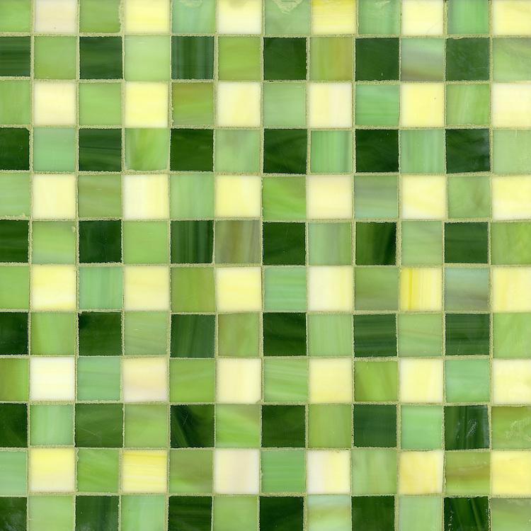Bonnie, a jewel glass mosaic field shown in Citrine, Peridot and Aventurine.