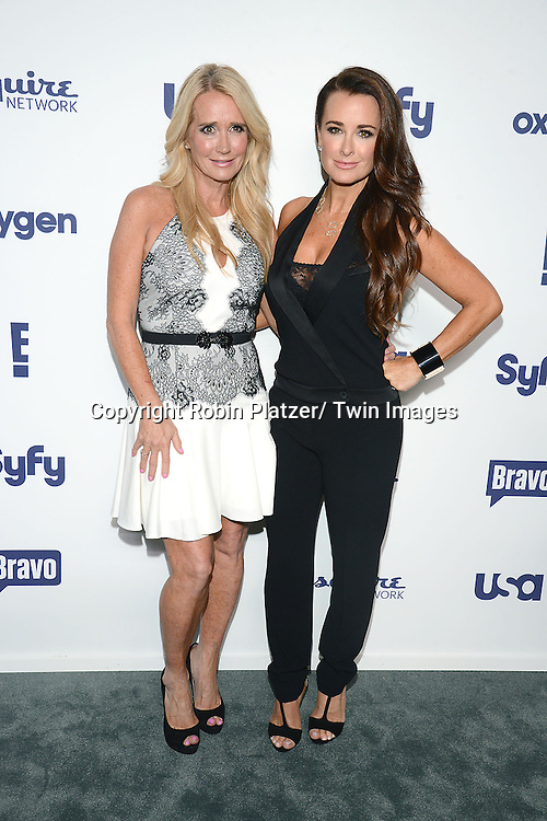 Kim Richards and Kyle Richards attend the NBCUniversal Cable Entertainment Upfront <br /> on May 15, 2014 at The Javits Center North Hall in New York City, New York, USA.