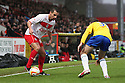 Filipe Morais of Stevenage takes on Blair Adams of Coventry. Stevenage v Coventry City - npower League 1 - Lamex Stadium, Stevenage - 26th December, 2012. © Kevin Coleman 2012......