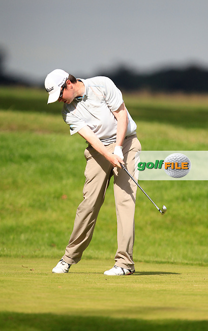 Steve Moore (Spawell) during the Johnston Mooney &amp; O'Brien PGA Challenge Round 1 at Carton House Golf Club  7th August 2013 <br /> Picture:  Thos Caffrey / www.golffile.ie