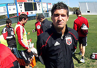Santino Quaranta#25 of D.C. United during a training session in Hapgood Stadium on the campus of the Citadel,on March 11 2011, in Charleston, South Carolina