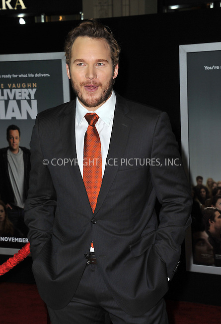 WWW.ACEPIXS.COM<br /> <br /> November 3 2013, LA<br /> <br /> Chris Pratt arriving at the Los Angeles premiere of 'Delivery Man' at the El Capitan Theatre on November 3, 2013 in Hollywood, California.<br /> <br /> By Line: Peter West/ACE Pictures<br /> <br /> <br /> ACE Pictures, Inc.<br /> tel: 646 769 0430<br /> Email: info@acepixs.com<br /> www.acepixs.com