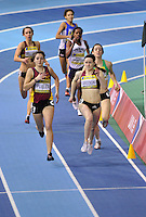 Photo: Tony Oudot/Richard Lane Photography. Aviva World Trials & UK Championships. 13/02/2010. .Womens 400m B Final. .Emma Pullen wins the race.