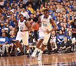 UK forward Alex Poythress dribbles the ball during the first half of the men's basketball game vs. Samford at Rupp Arena in Lexington, Ky., on Tuesday, December 4, 2012. Photo by Emily Wuetcher | Staff..