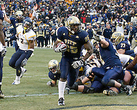November 28, 2008. Pitt running back LeSean McCoy (25) scores the winning touchdown on a one-yard run.  The Pitt Panthers defeated the West Virginia Mountaineers 19-15 on November 28, 2008 at Heinz Field, Pittsburgh, Pennsylvania.