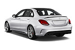 Car pictures of rear three quarter view of 2017 Mercedes Benz C-Class AMG-C63-S 4 Door Sedan Angular Rear