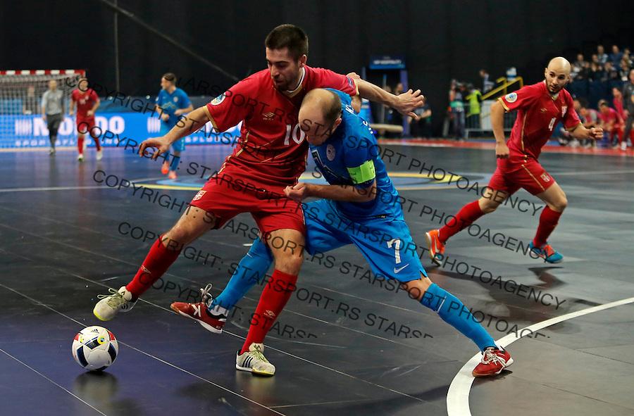 Mladen Kocic UEFA Euro 2016 Futsal Evropsko Prvenstvo, Srbija - Slovenija 2.2.1016. Februar 2. 2016. (credit image & photo: Pedja Milosavljevic / STARSPORT) total