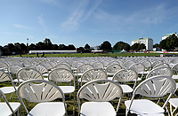 General view of the ground prior to the Sussex Sharks vs Essex Eagles, Royal London One-Day Cup Cricket at The Saffrons on 3rd June 2018