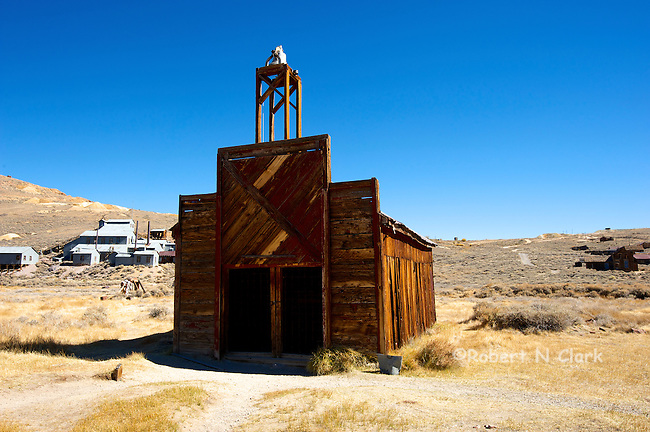 Bodie State Park, historic mining ghost town in California, near Bridgeport