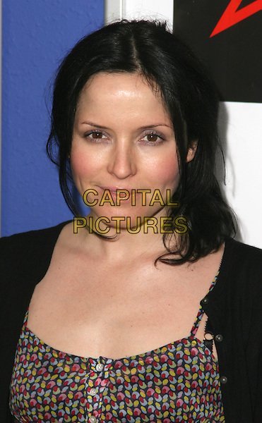 "ANDREA CORR .UK Film Premiere of ""Pictures"" at Cineworld, Trocadero, London, England, April 23rd 2009..portrait headshot black coat cardigan print buttons pink cheeks blusher make-up.CAP/JIL.©Jill Mayhew/Capital Pictures"